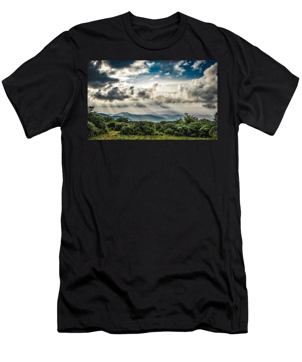Nature Men's T-Shirt (Athletic Fit) featuring the photograph Craggy Gardens by Jim Call
