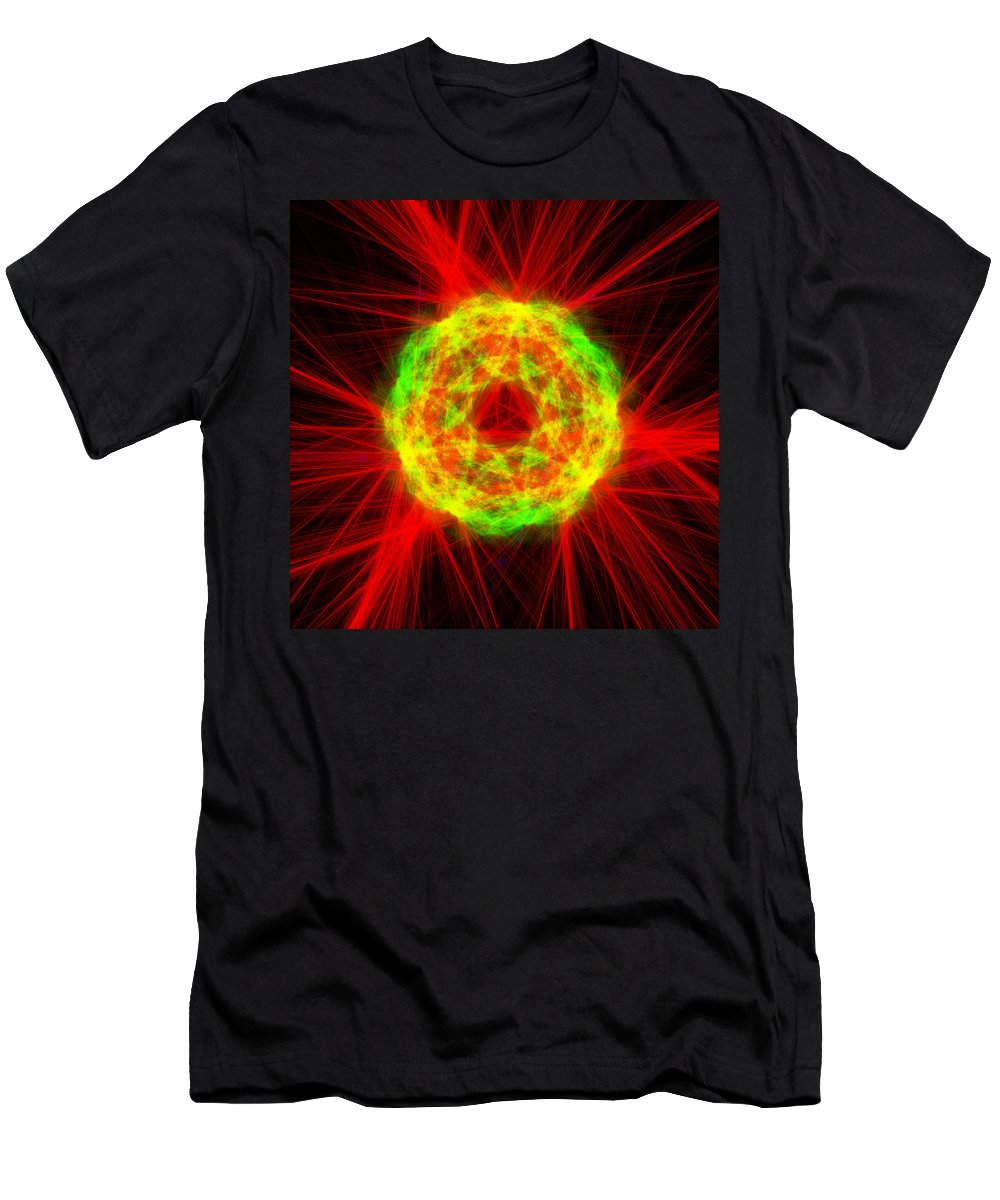 Abstract Men's T-Shirt (Athletic Fit) featuring the digital art Crankcased by Andrew Kotlinski