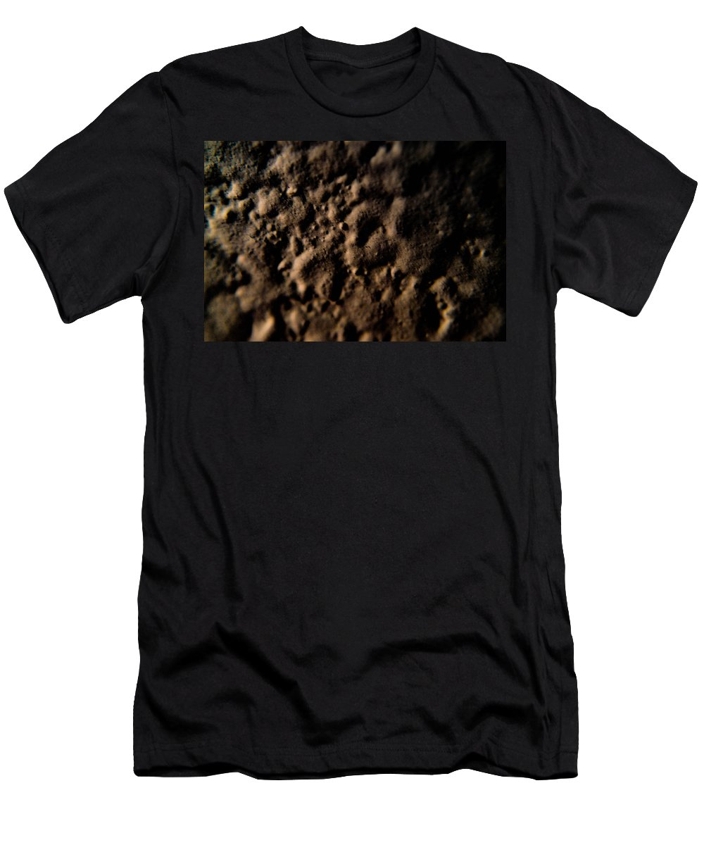 Macro Lens Men's T-Shirt (Athletic Fit) featuring the photograph Craters by Miranda Strapason