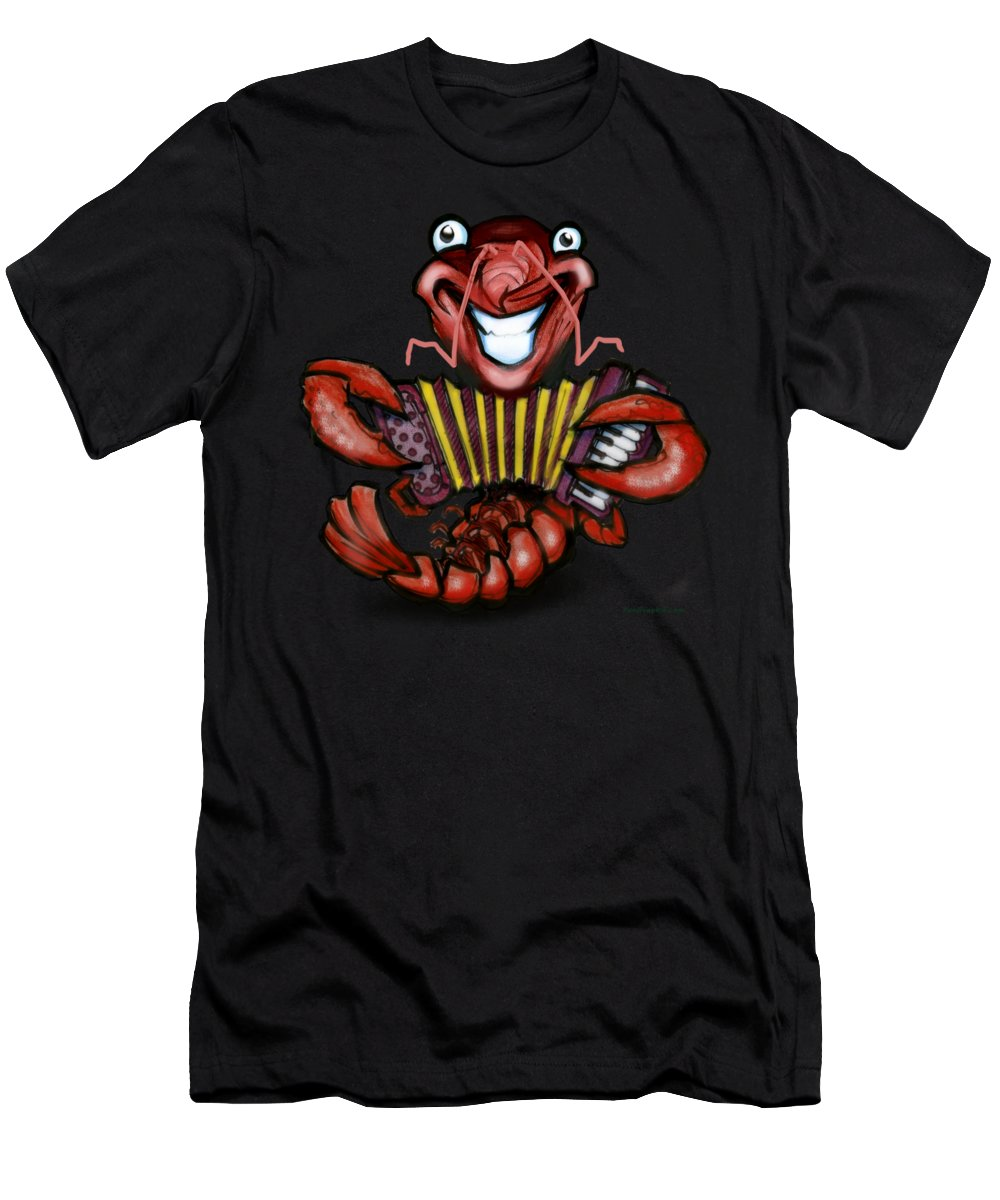Crawfish Men's T-Shirt (Athletic Fit) featuring the digital art Crawfish by Kevin Middleton