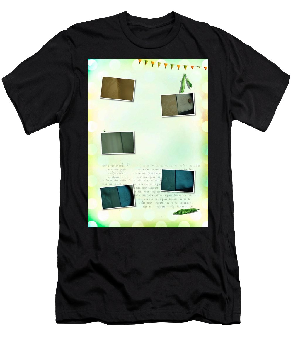 Abstract Men's T-Shirt (Athletic Fit) featuring the photograph Crazy World by Alwyn Glasgow