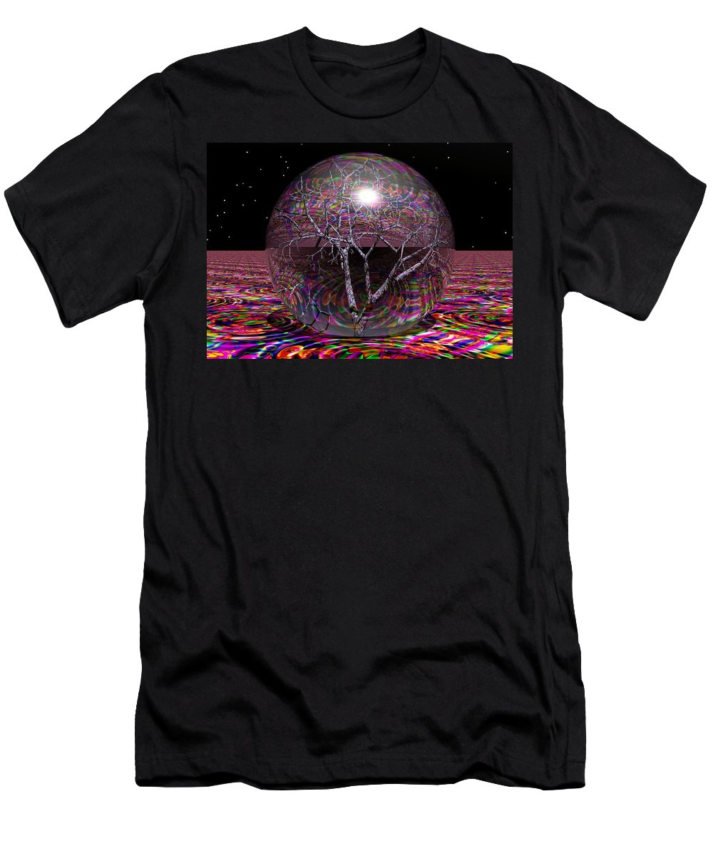 Sphere Men's T-Shirt (Athletic Fit) featuring the digital art Crazy World- by Robert Orinski
