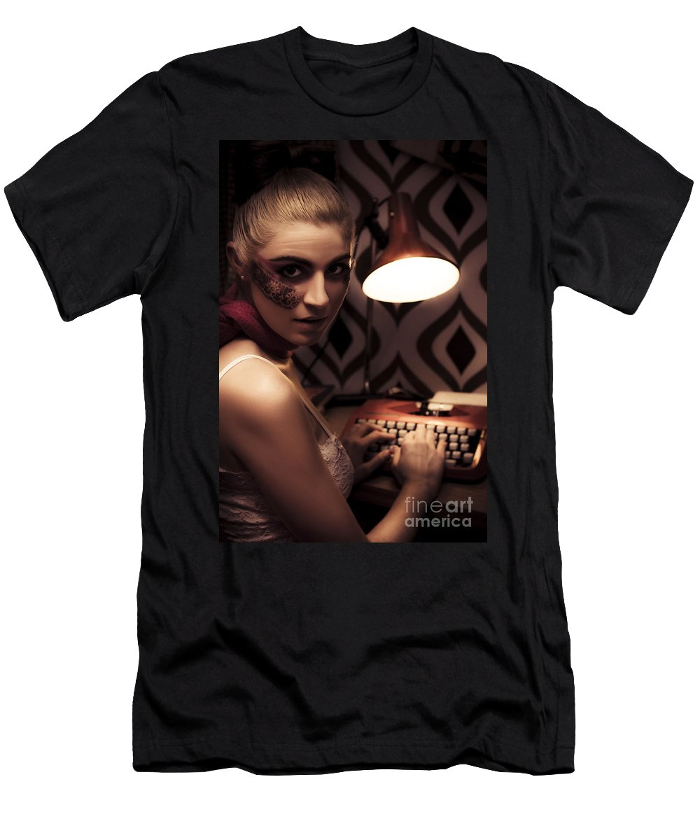 Blonde Men's T-Shirt (Athletic Fit) featuring the photograph Creative Writing by Jorgo Photography - Wall Art Gallery