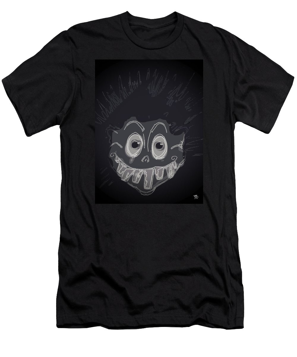 Men's T-Shirt (Athletic Fit) featuring the drawing Credulous. by Brittni Bailie