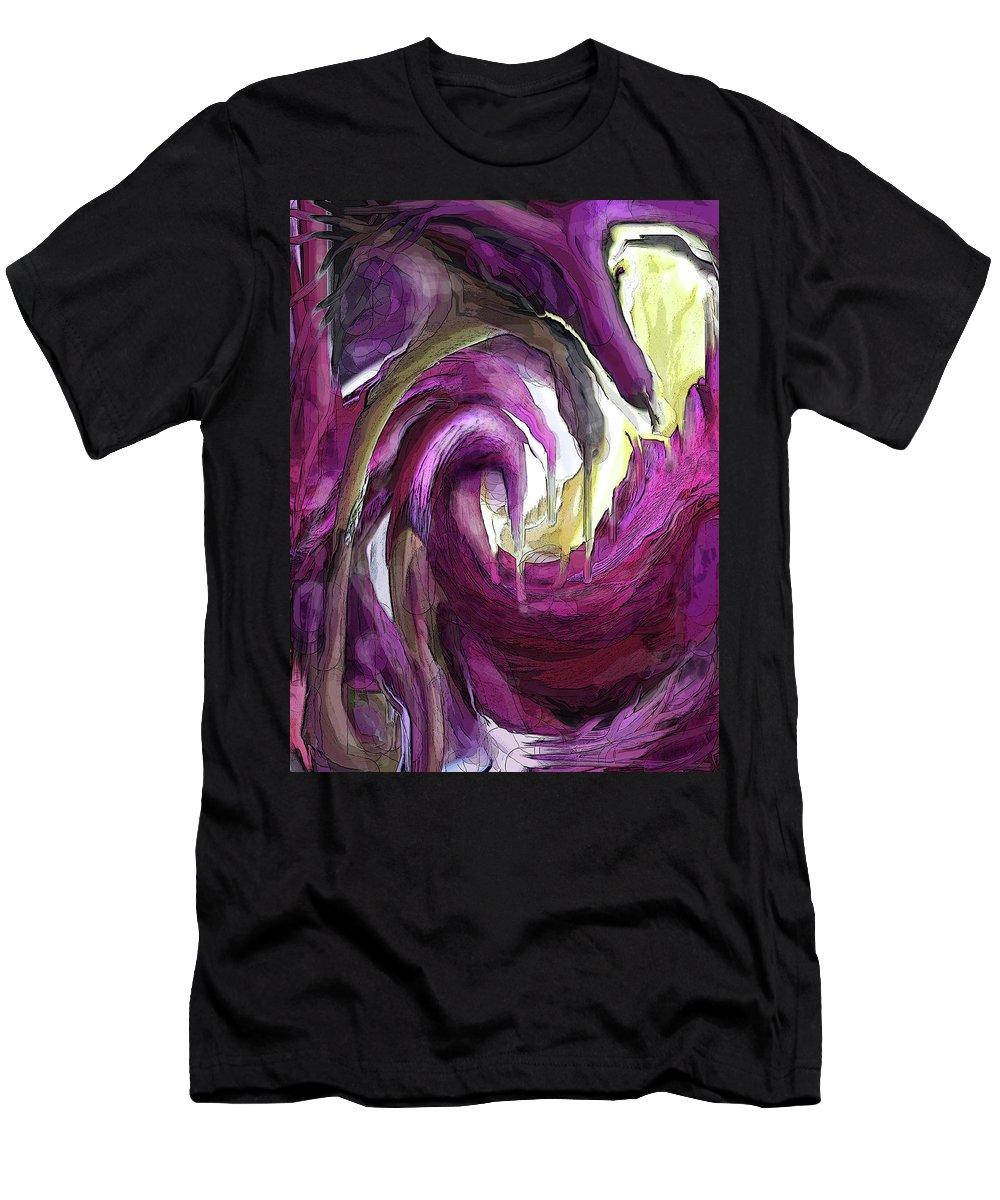 Abstract T-Shirt featuring the digital art Creeping Purple by Ian MacDonald