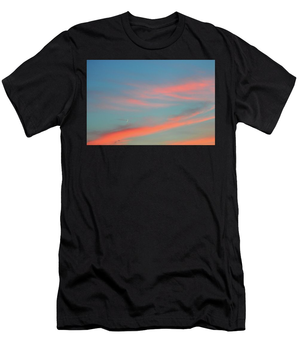 Abstract Men's T-Shirt (Athletic Fit) featuring the photograph Crescent Moon In The Sky by Lyle Crump