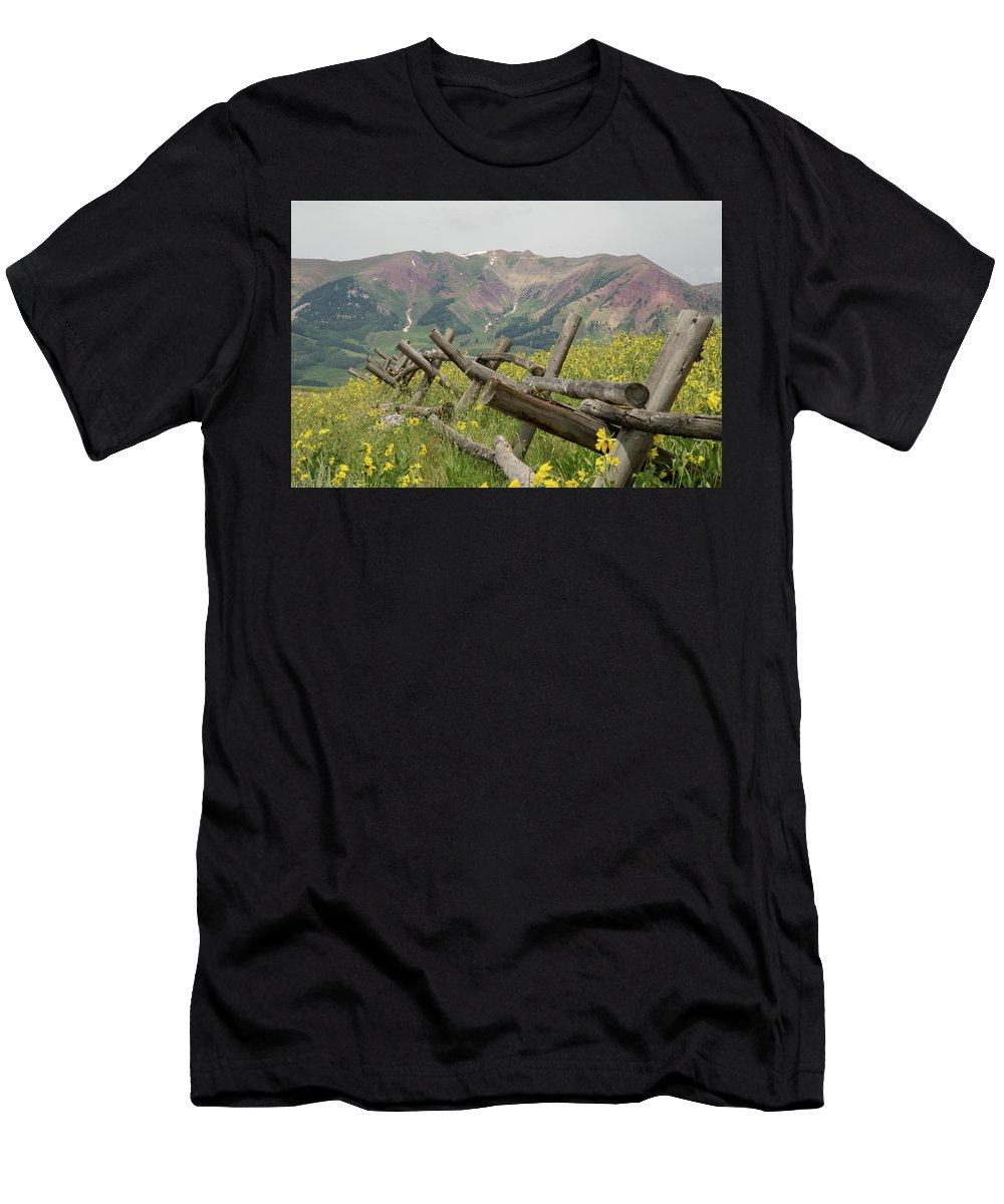 Crested Butte Men's T-Shirt (Athletic Fit) featuring the photograph Crested Butte Color by Meagan Watson