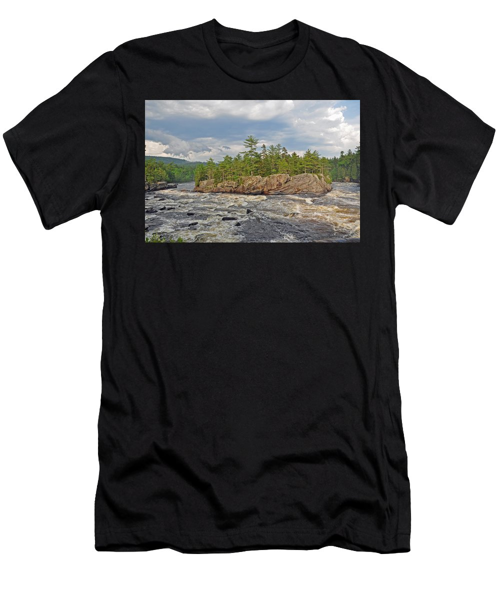 Crib Works Men's T-Shirt (Athletic Fit) featuring the photograph Crib Works by Glenn Gordon