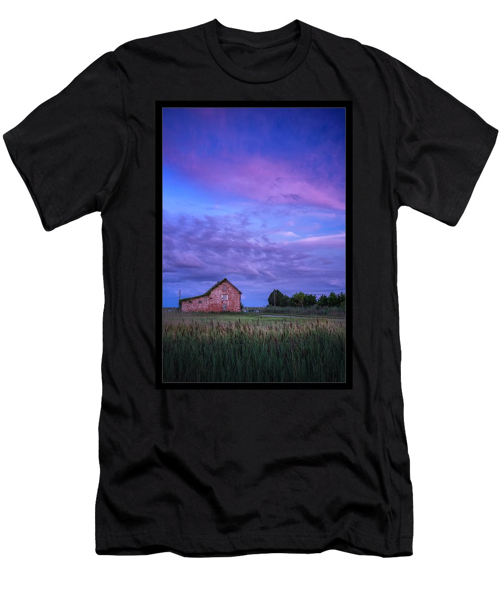 Maryland Men's T-Shirt (Athletic Fit) featuring the photograph Crocheron Skies by Robert Fawcett