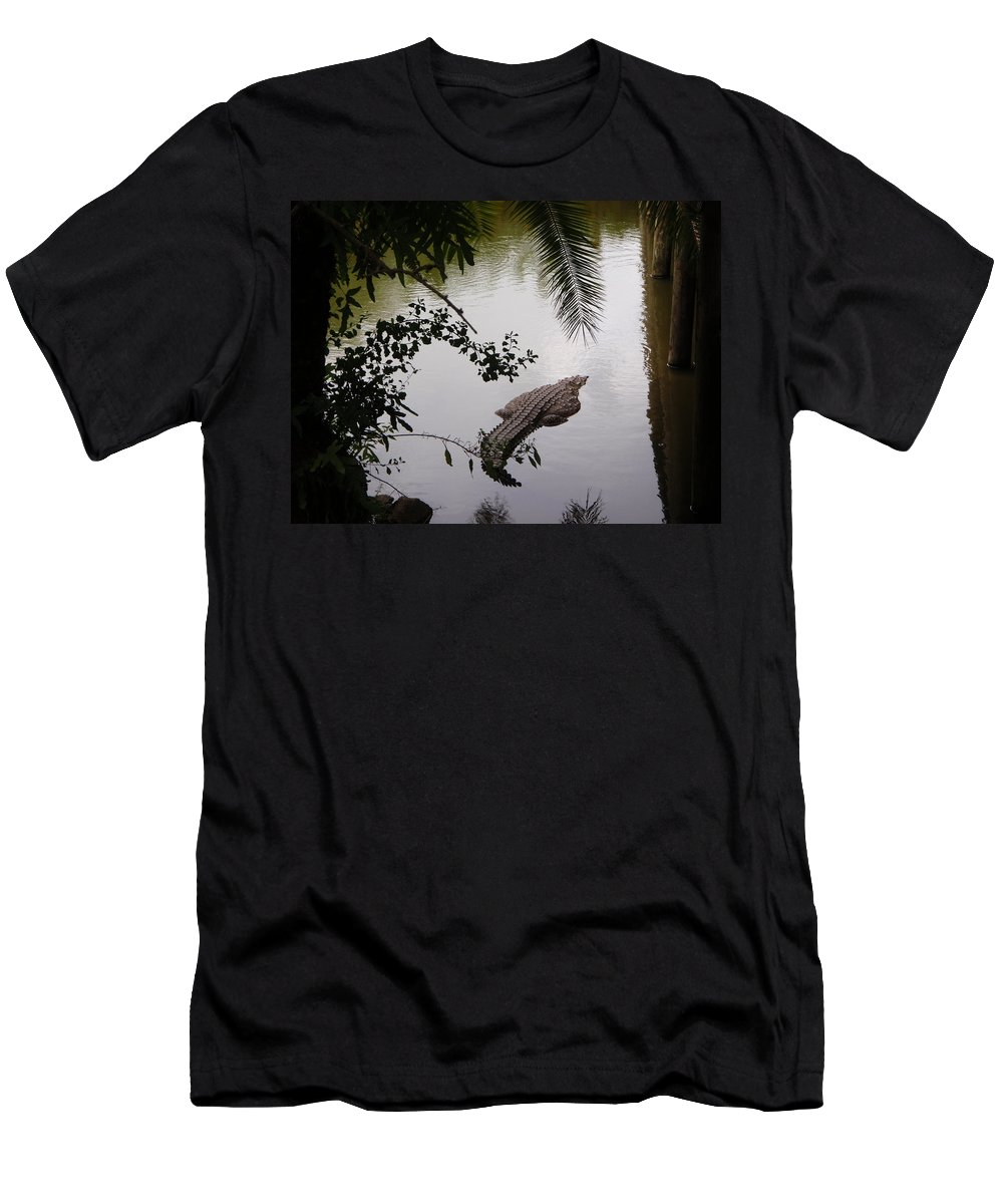 Croco Men's T-Shirt (Athletic Fit) featuring the photograph Croco by Are Lund