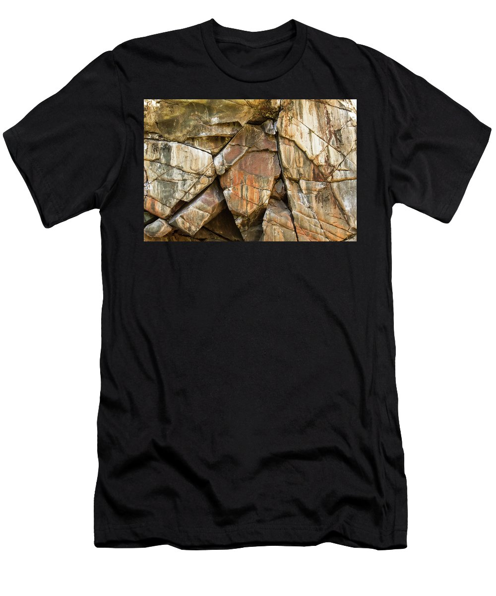 Croix Men's T-Shirt (Athletic Fit) featuring the photograph Croix Stone 2 by Brian Kenney