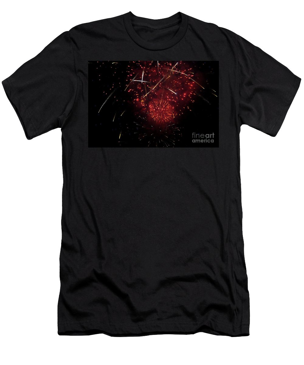 Clay Men's T-Shirt (Athletic Fit) featuring the photograph Cross Fire by Clayton Bruster
