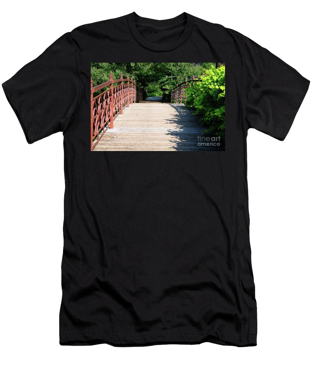 Botanical Men's T-Shirt (Athletic Fit) featuring the photograph Crossing by Deborah Klubertanz
