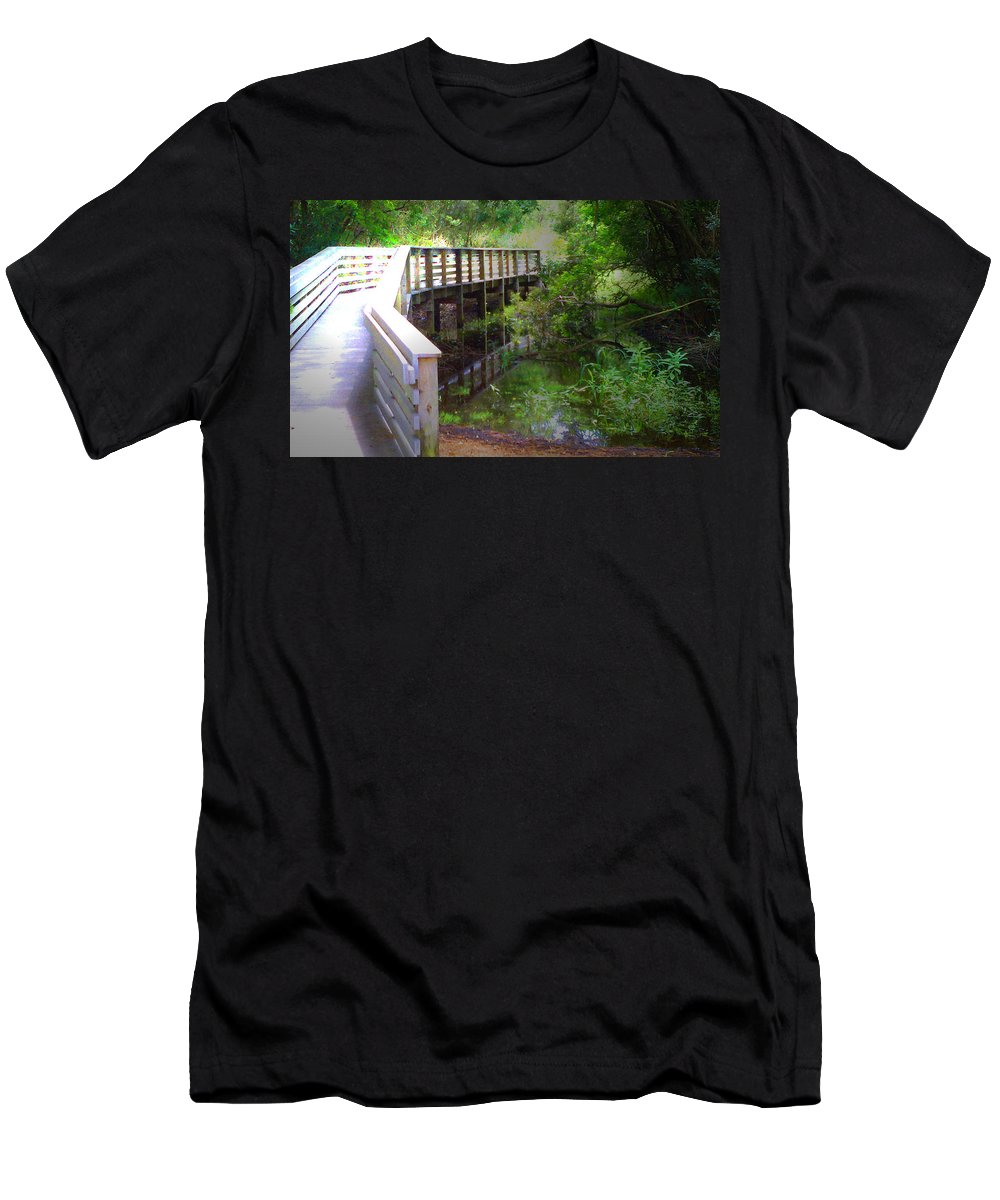Tamvision Men's T-Shirt (Athletic Fit) featuring the photograph Crossing Over I by Tamivision