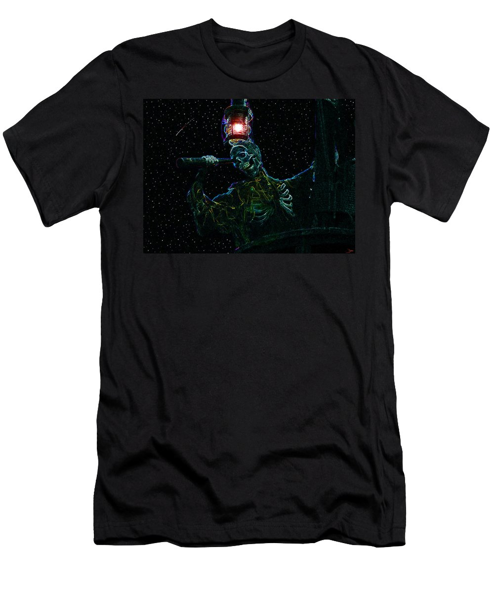 Art Men's T-Shirt (Athletic Fit) featuring the painting Crows Nest by David Lee Thompson