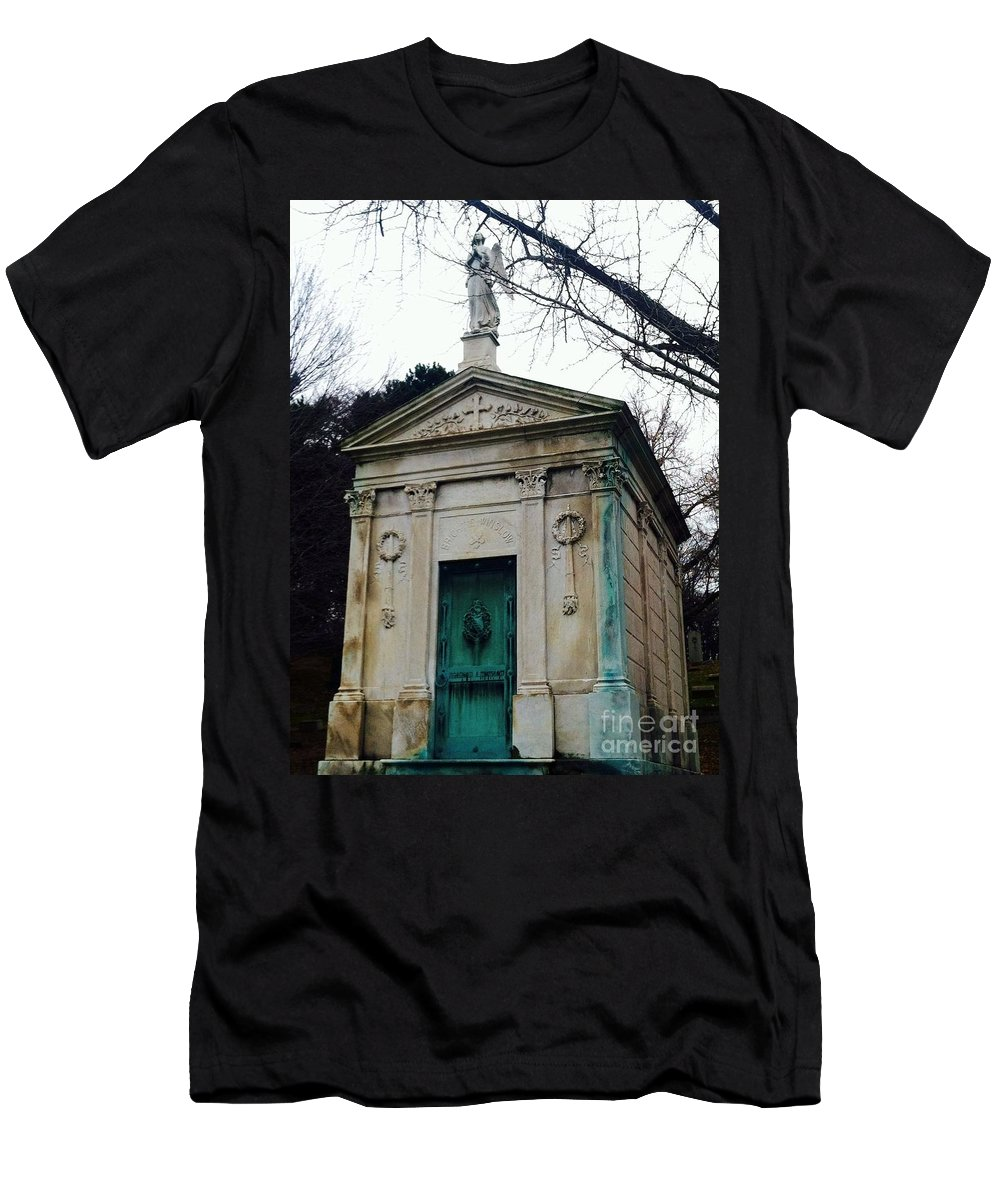 Crypt Men's T-Shirt (Athletic Fit) featuring the photograph Crypt by Michael Krek