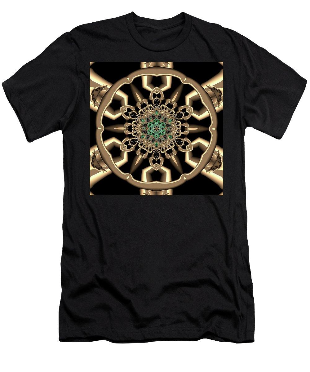 Light Men's T-Shirt (Athletic Fit) featuring the digital art Crystal 6134555 by Robert Thalmeier