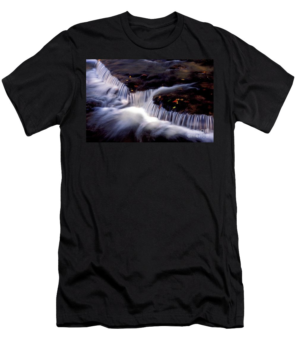 Water Men's T-Shirt (Athletic Fit) featuring the photograph Crystal Falls by Paul W Faust - Impressions of Light