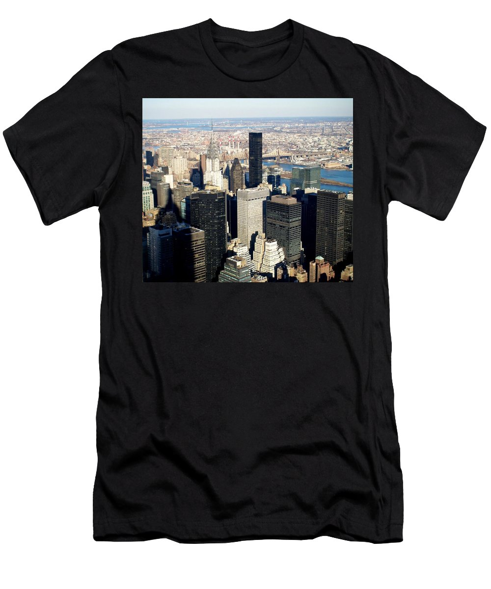 Crystler Building Men's T-Shirt (Athletic Fit) featuring the photograph Crystler Building 2 by Anita Burgermeister