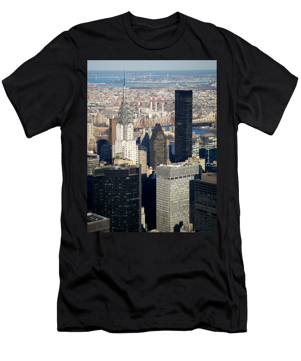 Crystler Building Men's T-Shirt (Athletic Fit) featuring the photograph Crystler Building by Anita Burgermeister