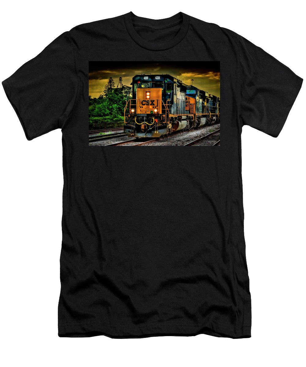 Csx Men's T-Shirt (Athletic Fit) featuring the photograph Csx 4226 by Marvin Spates