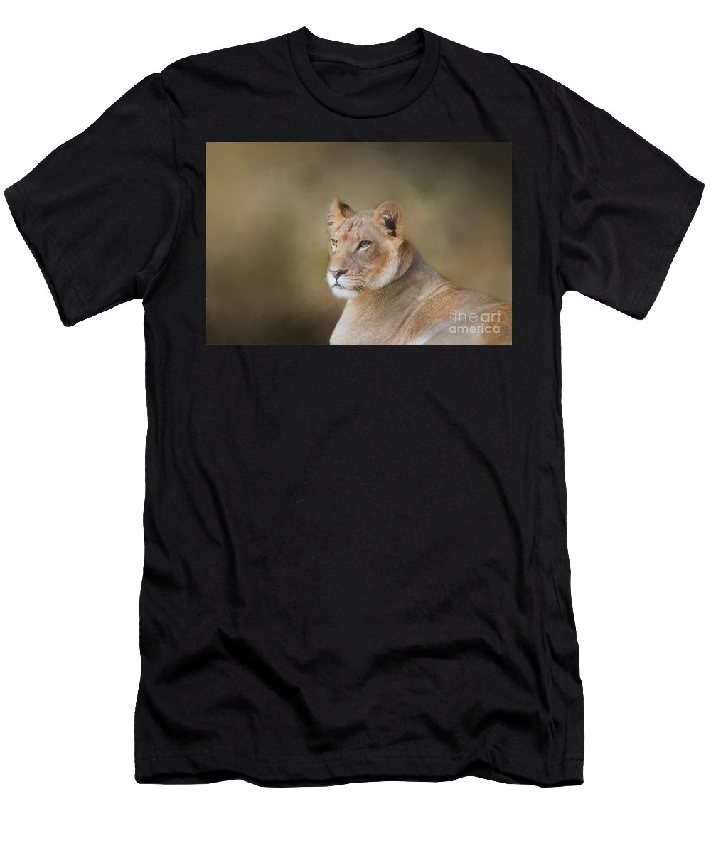 Lioness Men's T-Shirt (Athletic Fit) featuring the photograph Cub by Kathleen Rinker