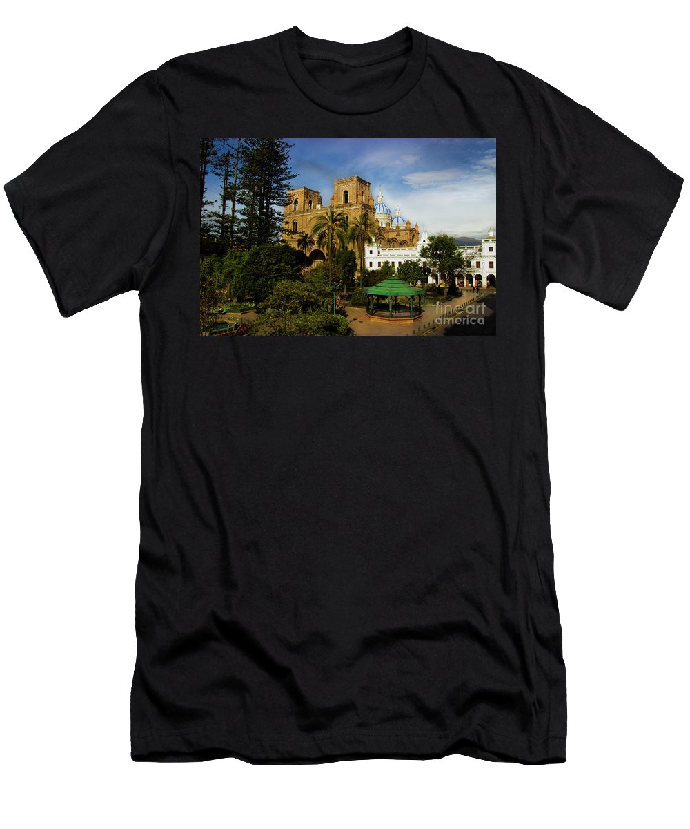 World Men's T-Shirt (Athletic Fit) featuring the photograph Cuenca Is A World Heritage Site by Al Bourassa