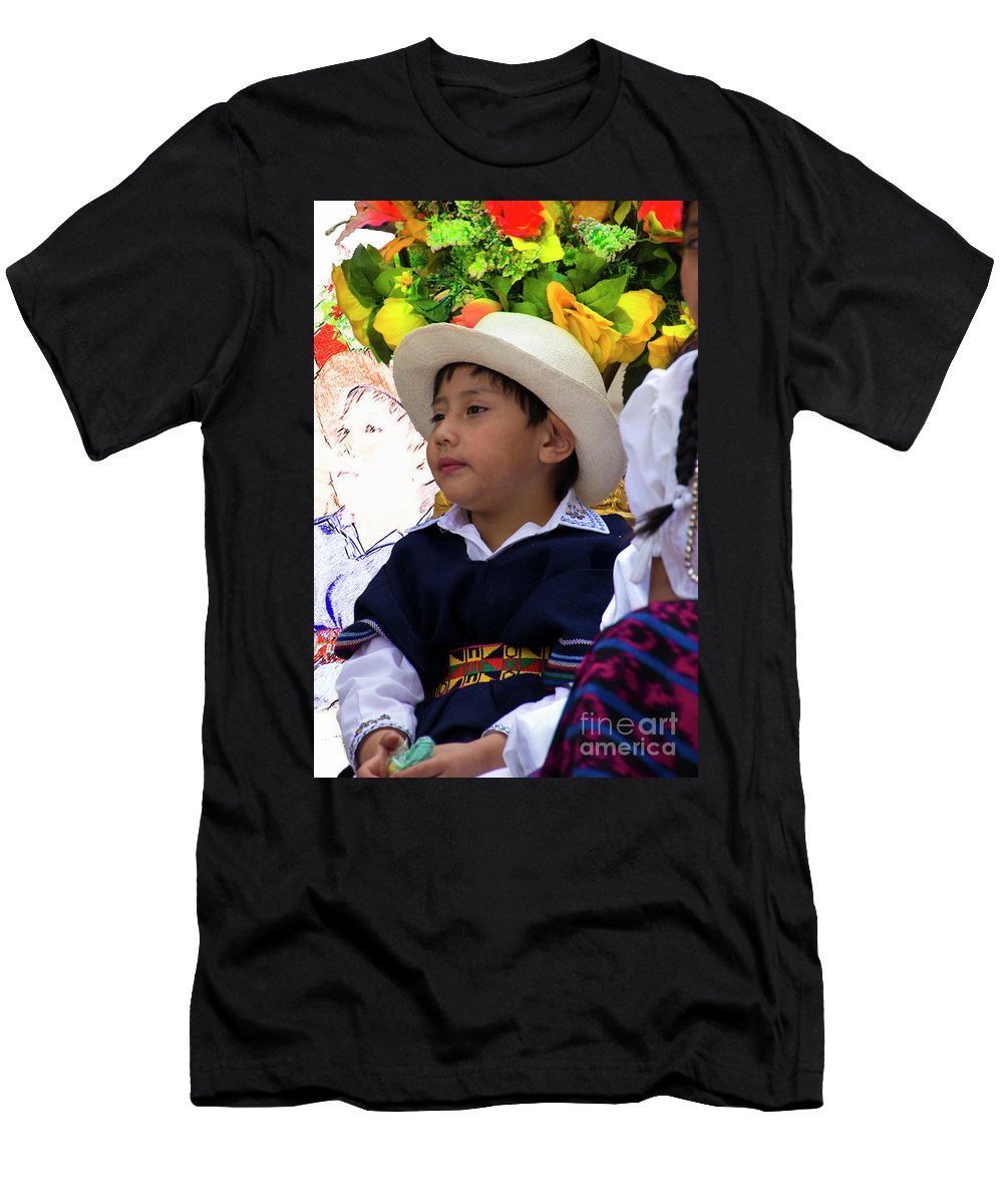 Boy Men's T-Shirt (Athletic Fit) featuring the photograph Cuenca Kids 833 by Al Bourassa
