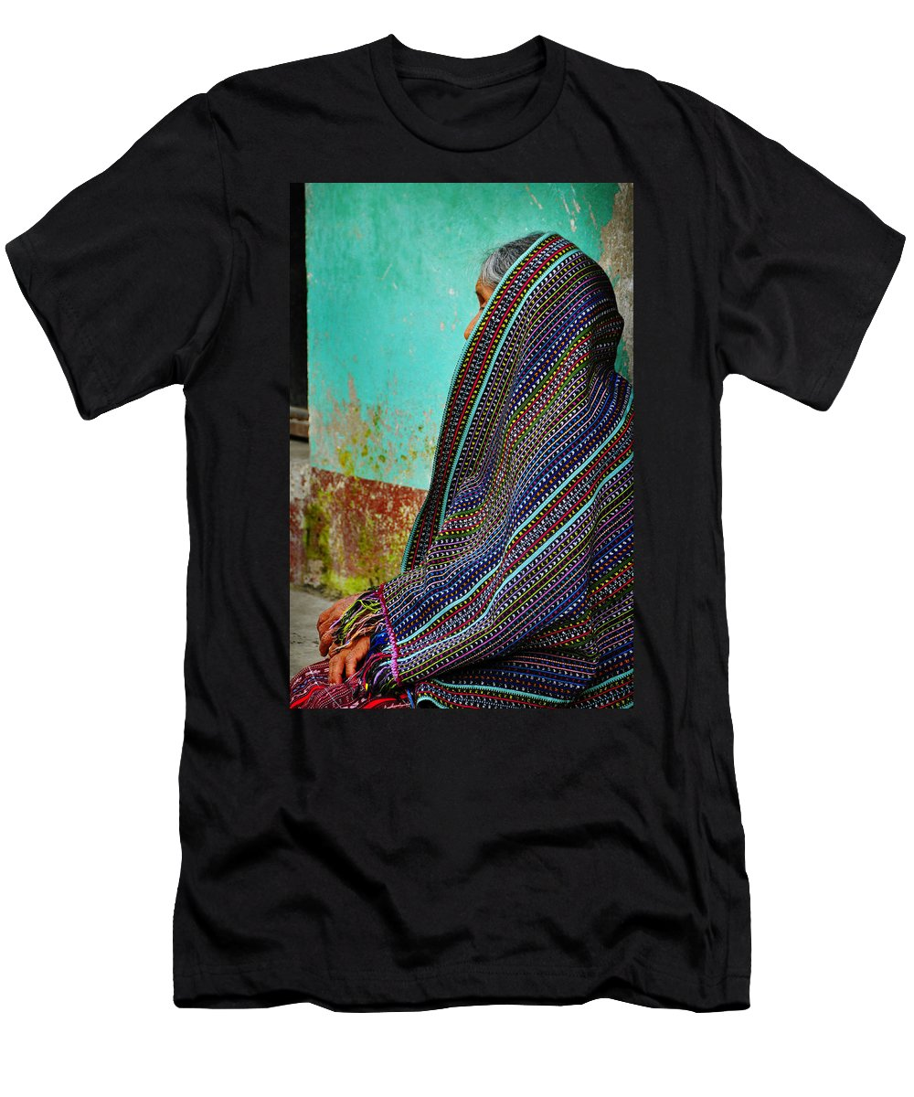 Skip Hunt Men's T-Shirt (Athletic Fit) featuring the photograph Curandera by Skip Hunt