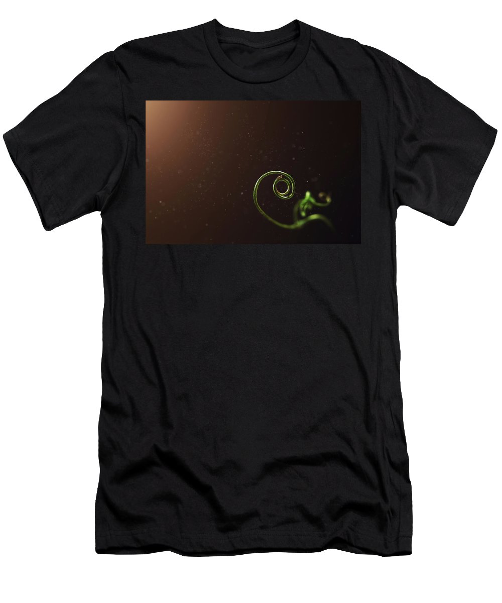 Pea T-Shirt featuring the photograph Curl - A Pea Pod Shoot by Scott Norris