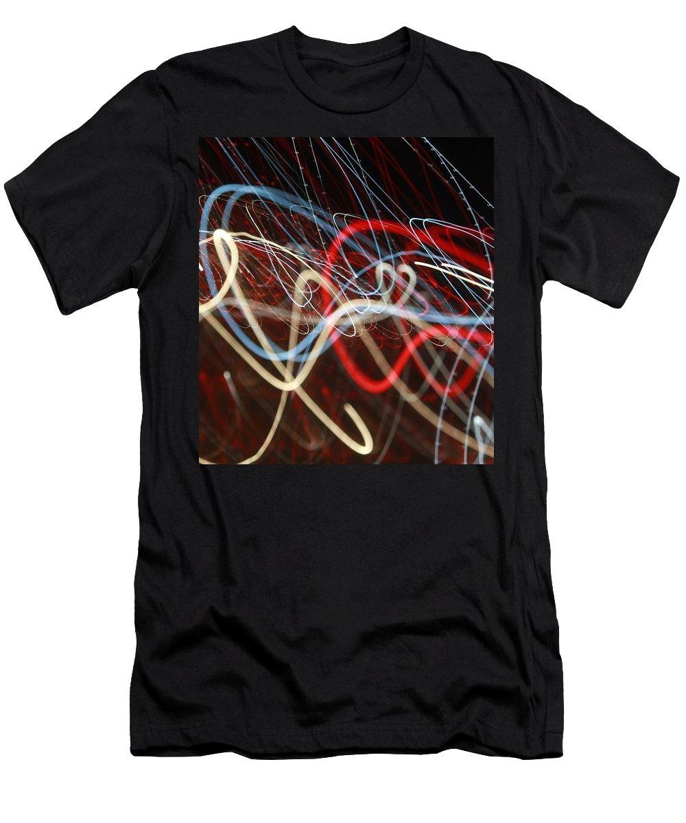 Laser Men's T-Shirt (Athletic Fit) featuring the photograph Cursive Nova by Kieran Clare
