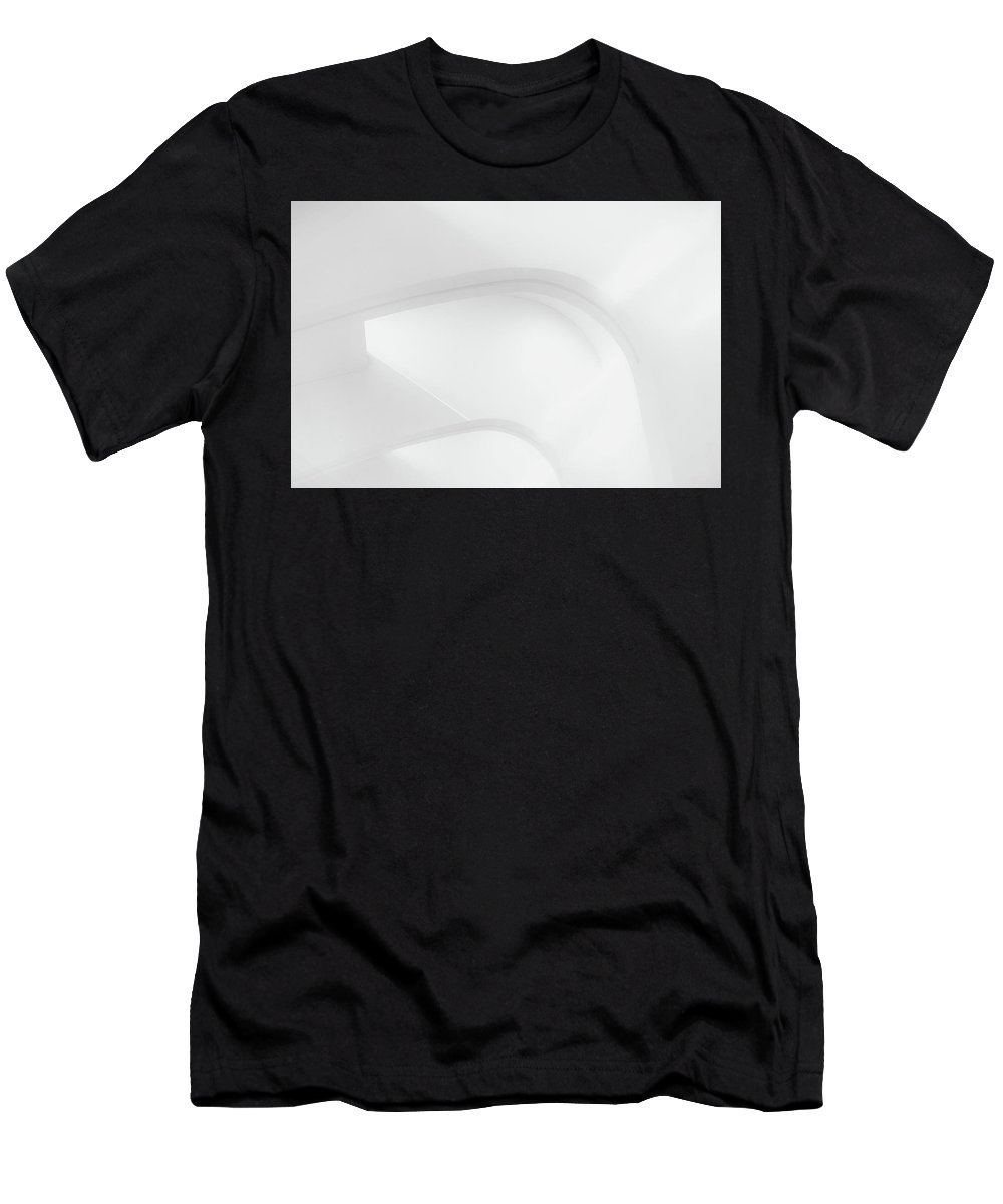 Black And White Men's T-Shirt (Athletic Fit) featuring the photograph Curved Lines 2 by Scott Norris