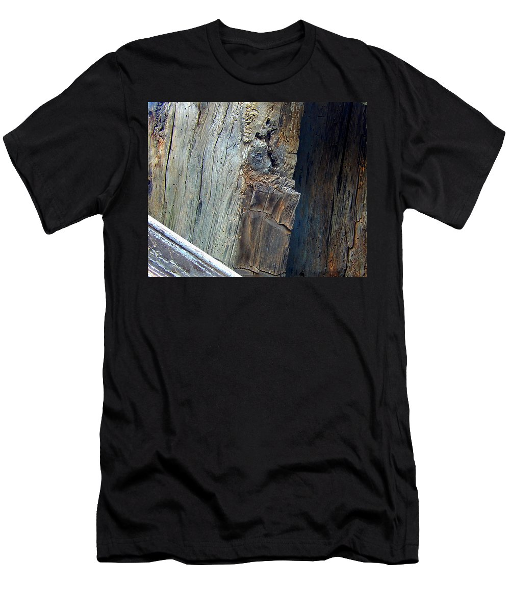 Wood Men's T-Shirt (Athletic Fit) featuring the photograph Cut From The Past by Bob Welch