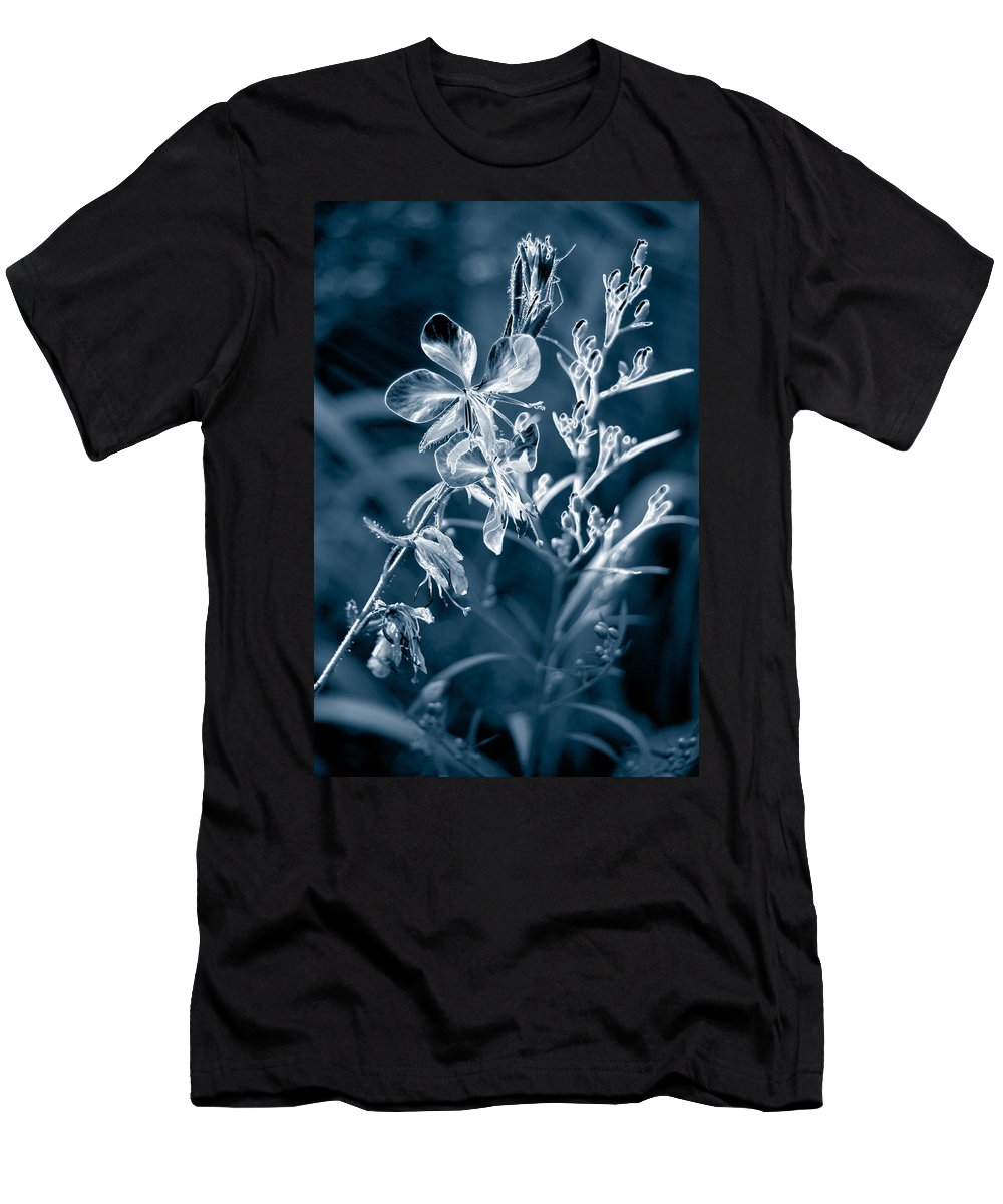 Cyanotype Men's T-Shirt (Athletic Fit) featuring the photograph Cyanotype Morn by Trish Hale