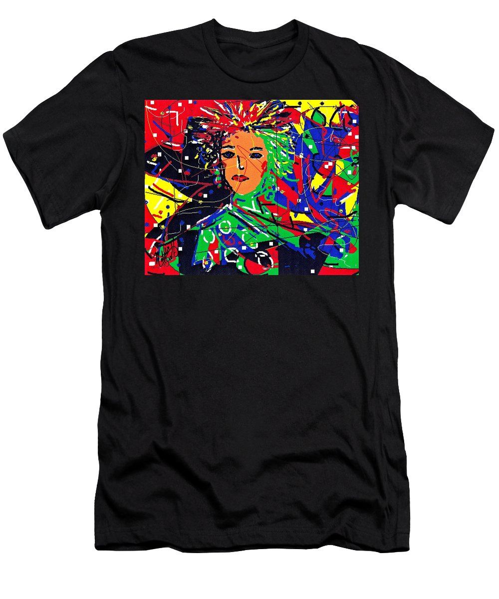 Woman Men's T-Shirt (Athletic Fit) featuring the digital art Cyberspace Goddess by Natalie Holland