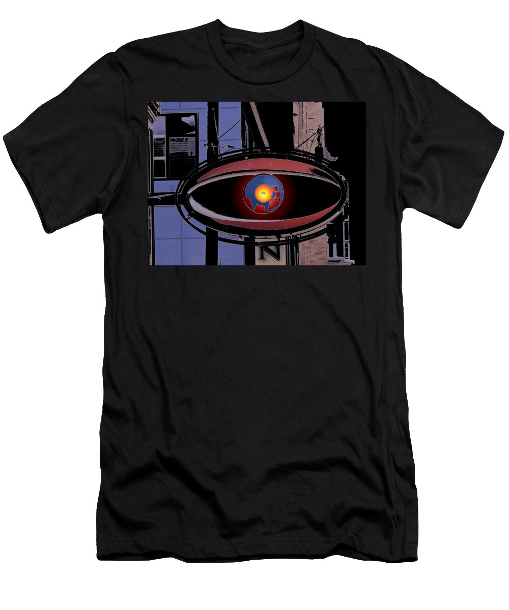 Seattle Men's T-Shirt (Athletic Fit) featuring the digital art Cyclops by Tim Allen
