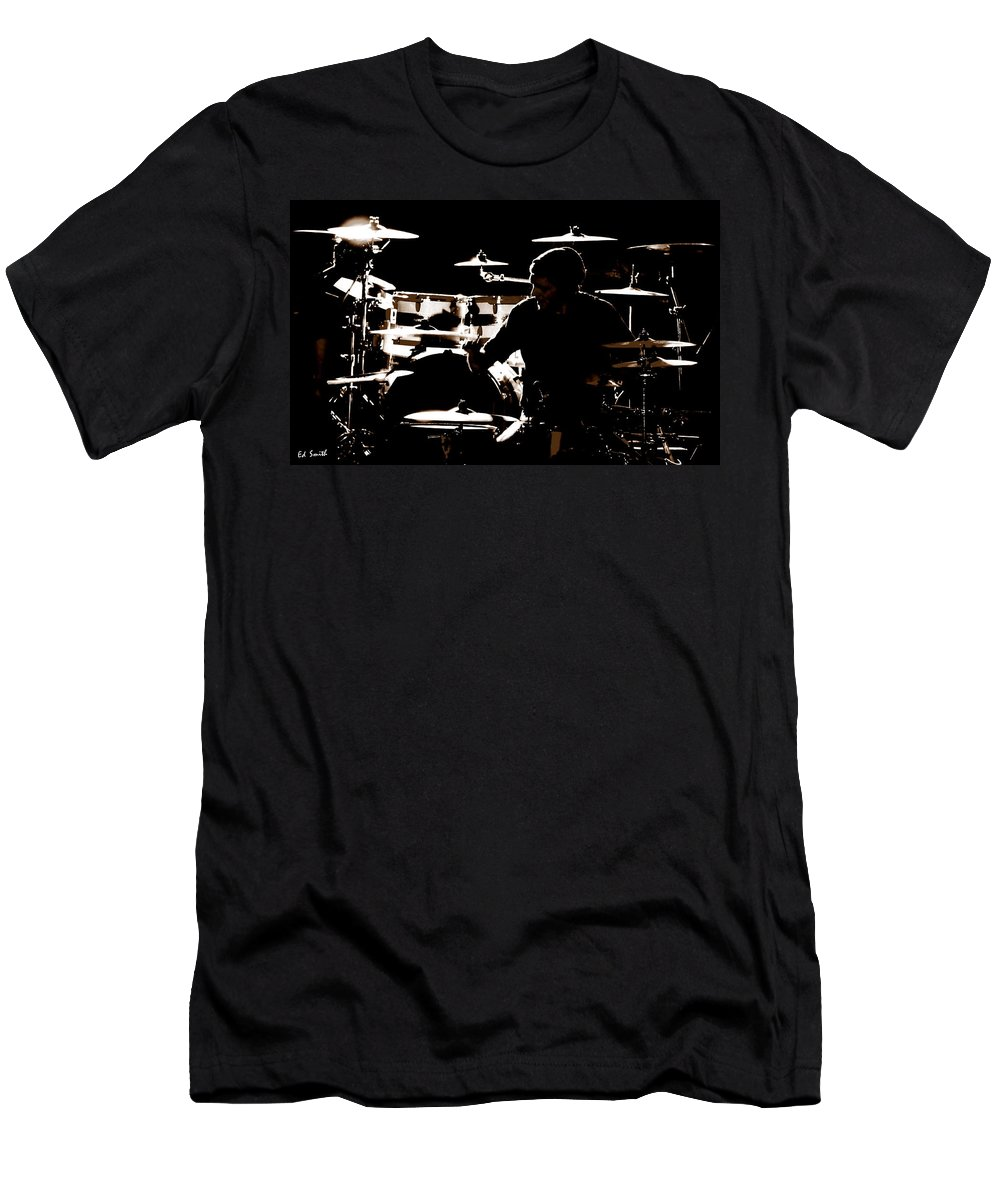 Cymbal-ized Men's T-Shirt (Athletic Fit) featuring the photograph Cymbal-ized by Ed Smith