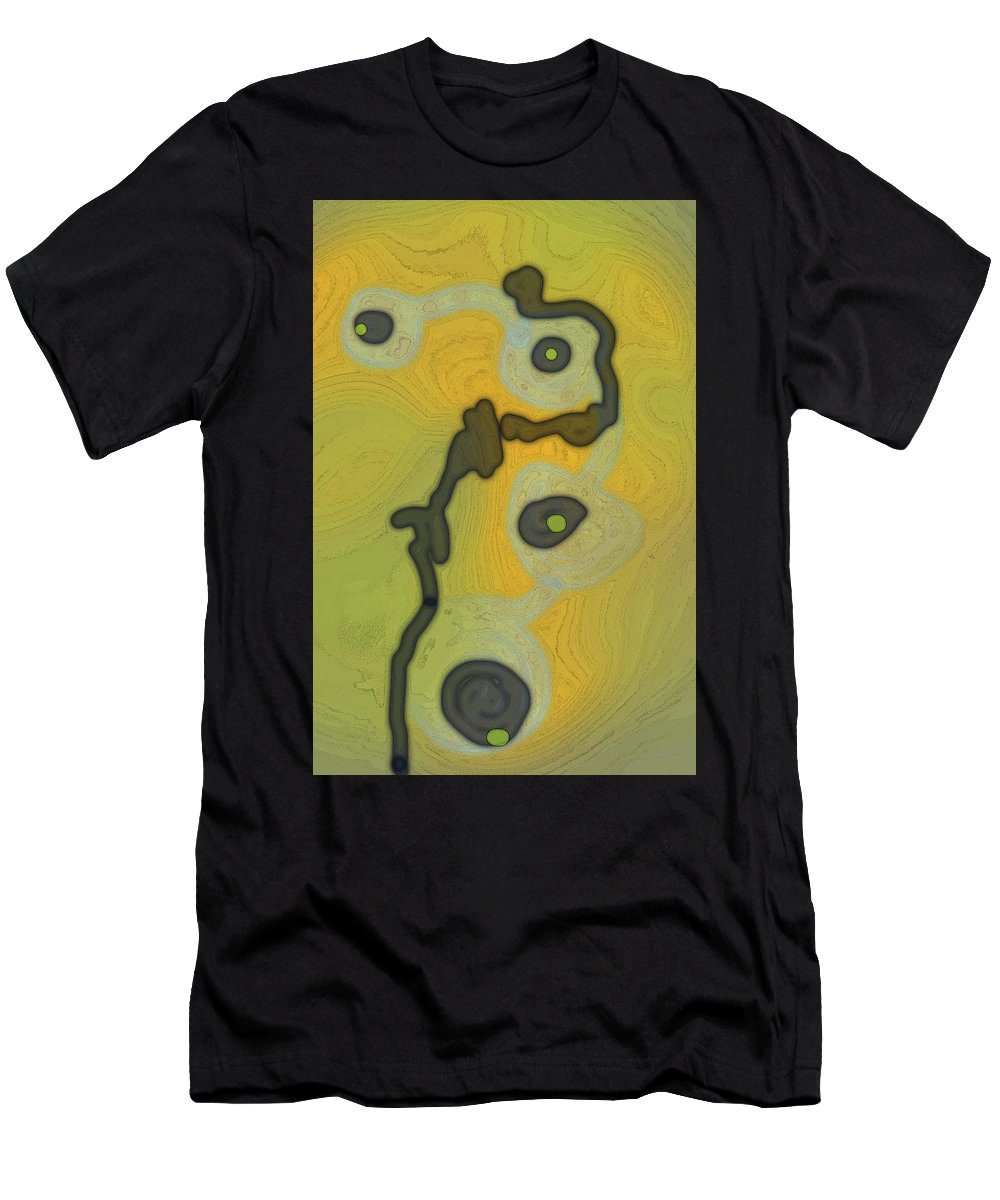 Contemporary Men's T-Shirt (Athletic Fit) featuring the digital art Cyto Yellow by Irene Berry