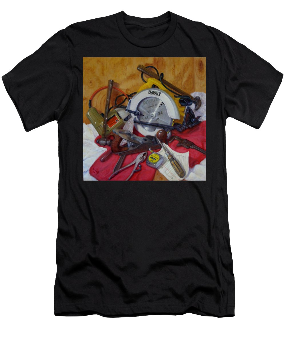 Realism Men's T-Shirt (Athletic Fit) featuring the painting D. I. Y. 2  by Donelli DiMaria
