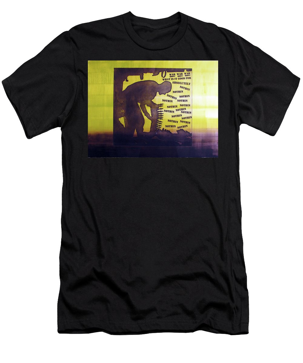 War Men's T-Shirt (Athletic Fit) featuring the painting D U Rounds Project, Print 15 by Erik Paul