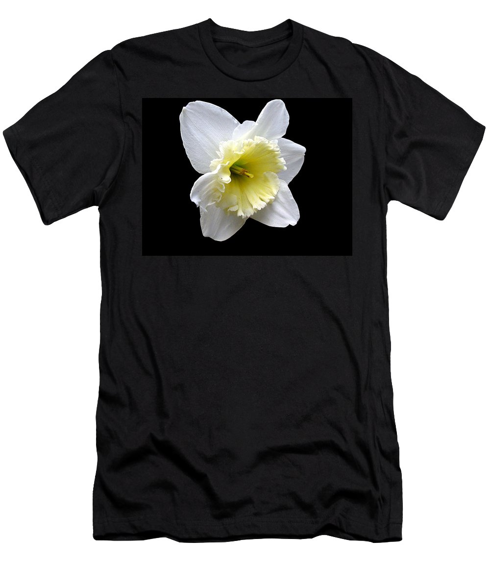 Daffodil T-Shirt featuring the photograph Daffodil on Black by J M Farris Photography