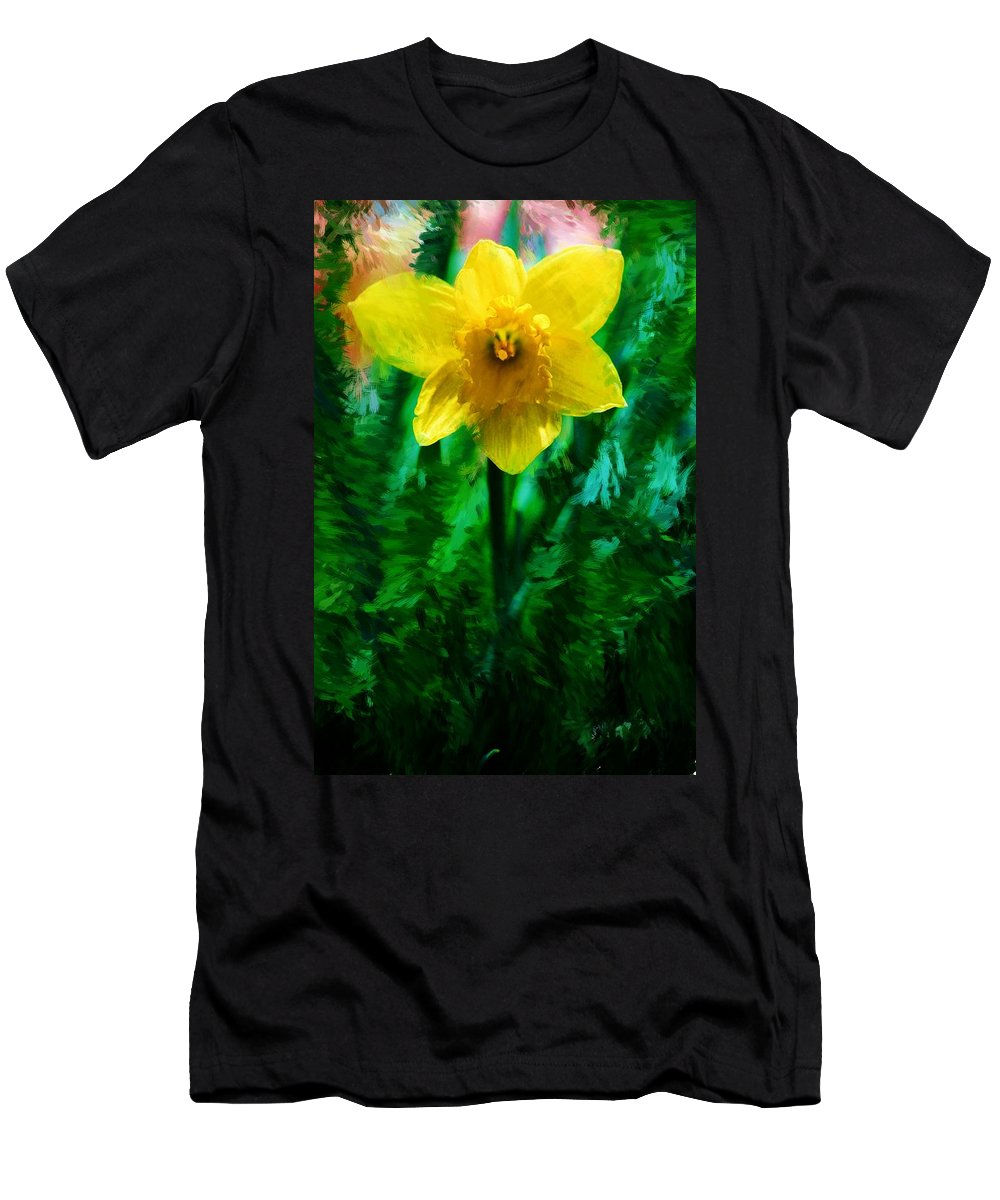 Abstract Men's T-Shirt (Athletic Fit) featuring the photograph Daffy Dill by David Lane