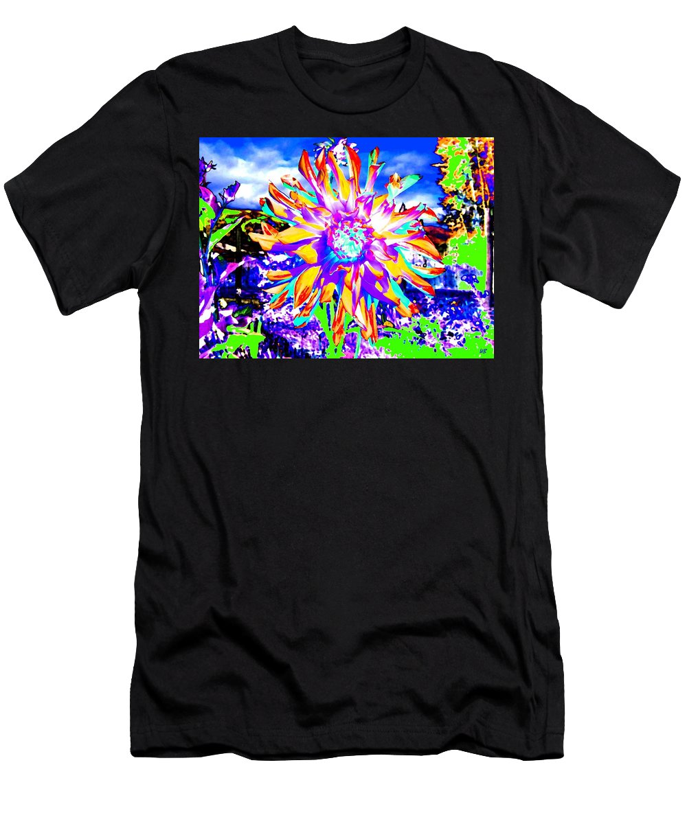 Dahlia Men's T-Shirt (Athletic Fit) featuring the digital art Dahlia Dazzle by Will Borden