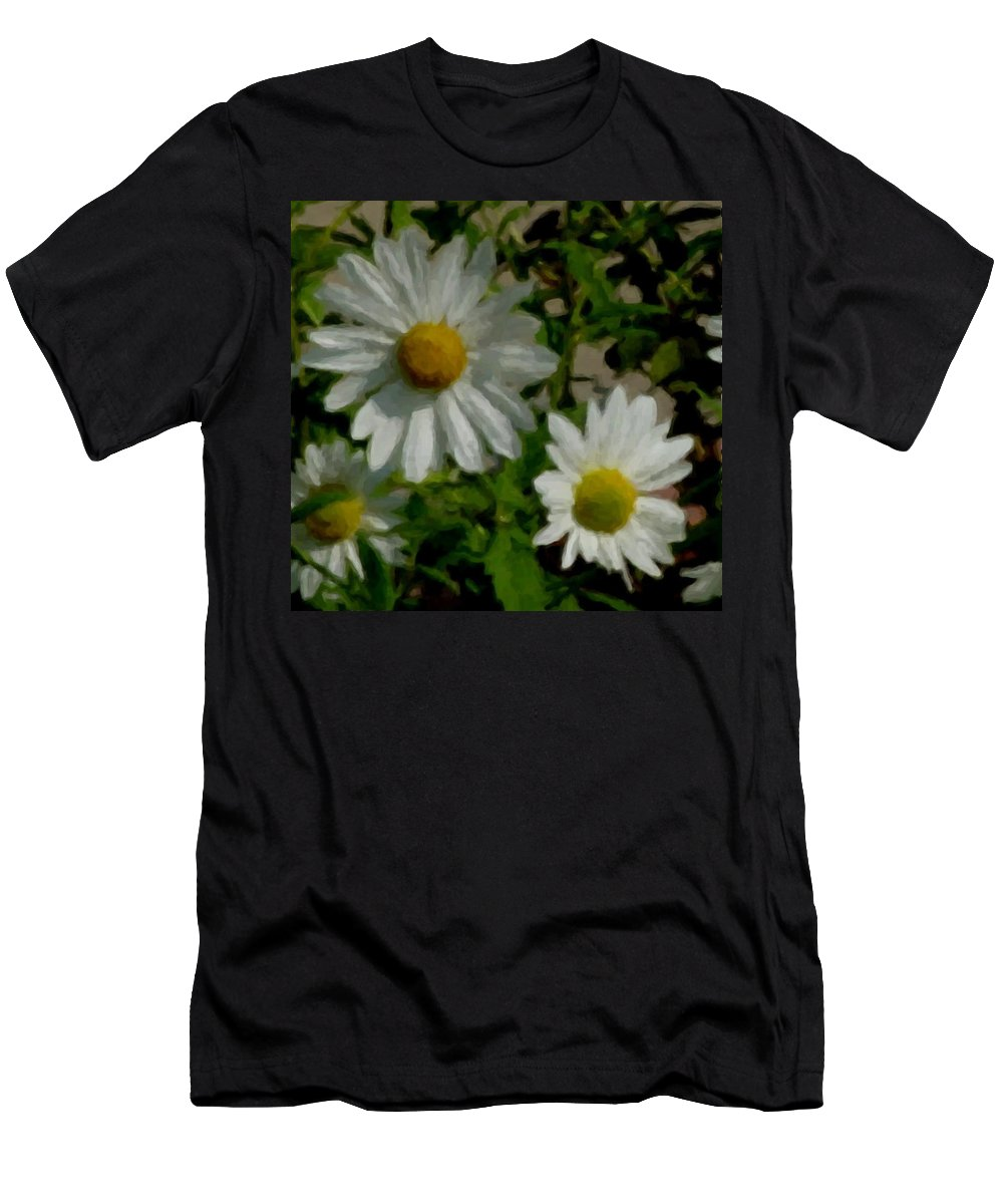 Daisy Men's T-Shirt (Athletic Fit) featuring the digital art Daisies By The Number by Anita Burgermeister