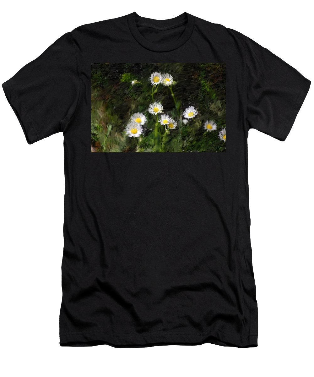 Digital Photograph Men's T-Shirt (Athletic Fit) featuring the photograph Daisy Day Fantasy by David Lane