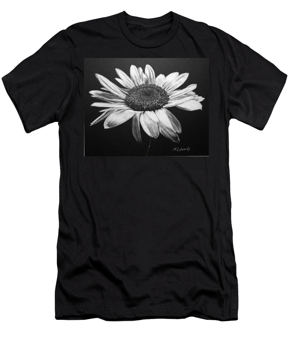 Daisy Men's T-Shirt (Athletic Fit) featuring the drawing Daisy I by Marna Edwards Flavell