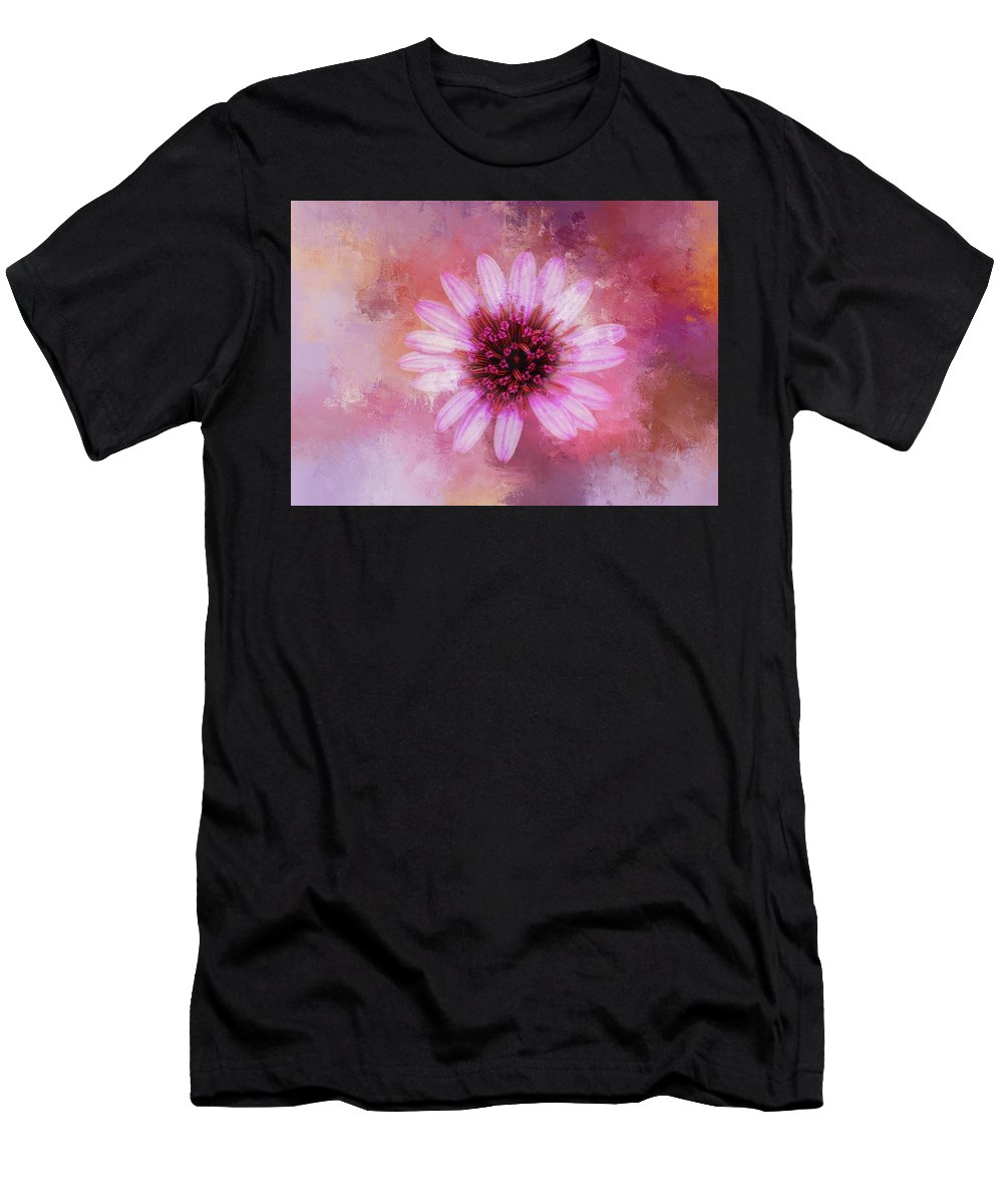 Magenta Men's T-Shirt (Athletic Fit) featuring the digital art Daisy In Magenta by Terry Davis
