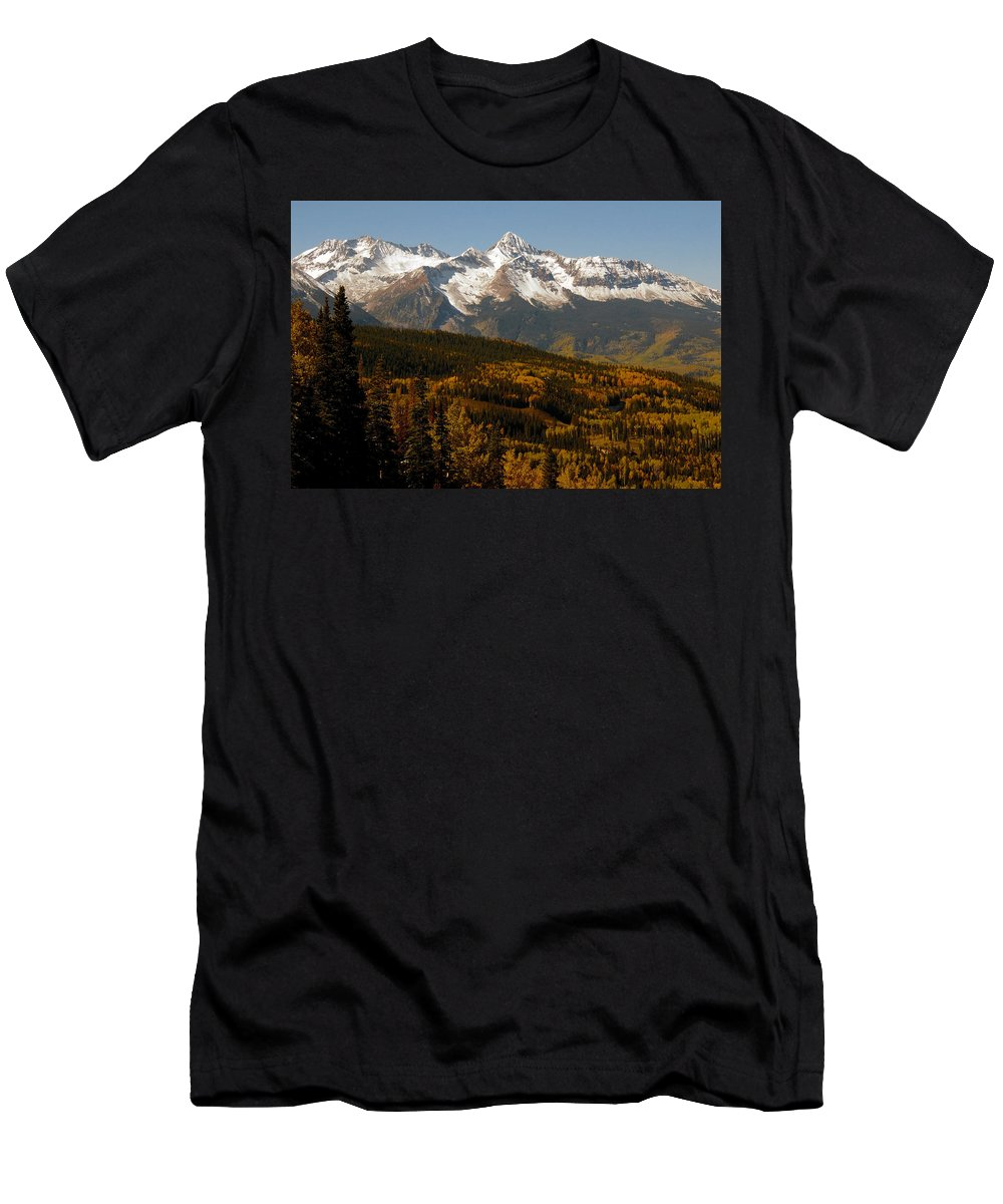 San Juan Mountains Colorado Men's T-Shirt (Athletic Fit) featuring the photograph Dallas Divide by David Lee Thompson