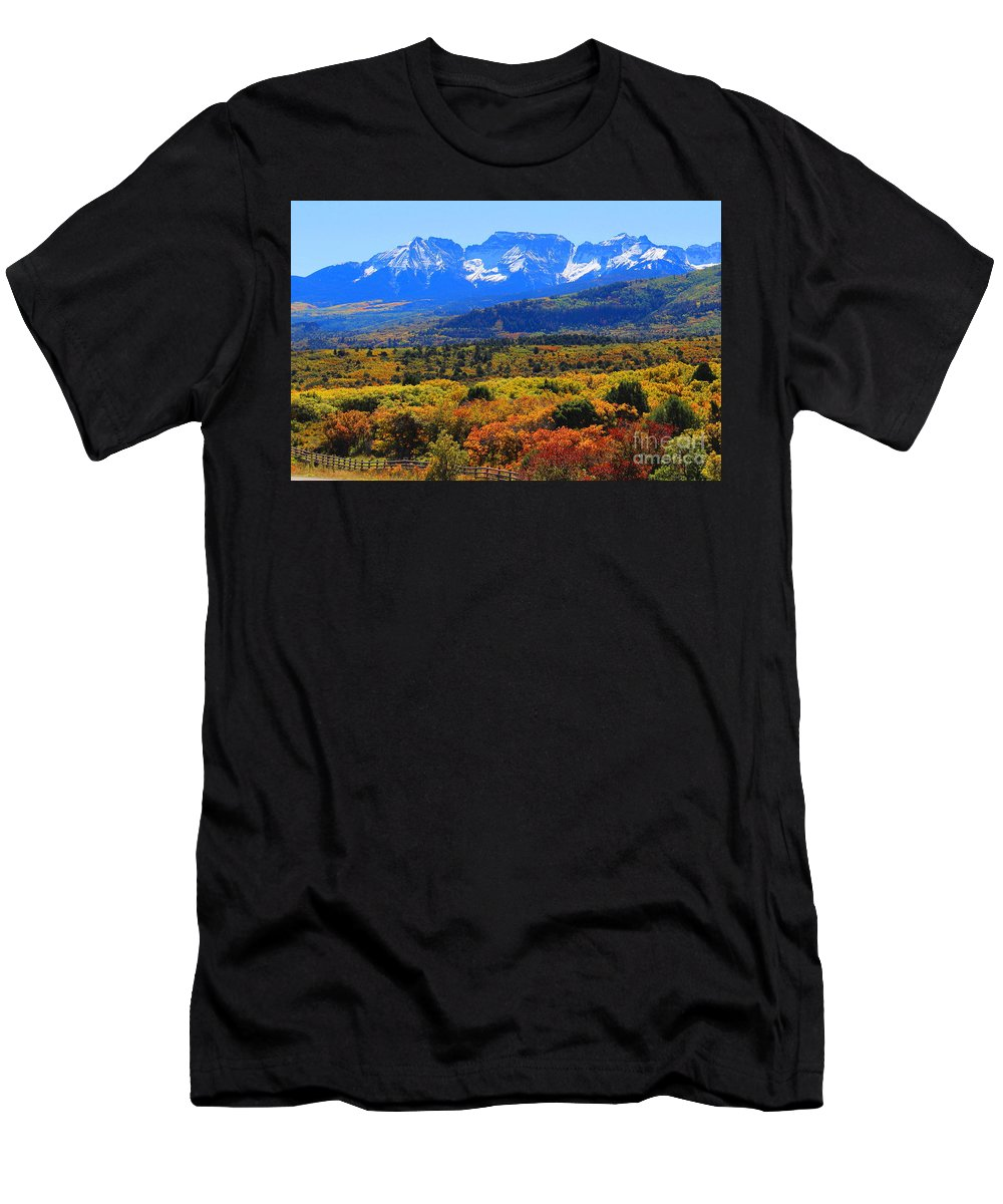 Men's T-Shirt (Athletic Fit) featuring the photograph Dallas Divide by Ted VanDenBerg