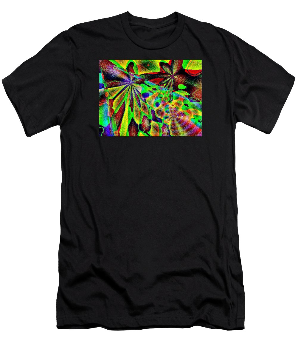 Computer Art Men's T-Shirt (Athletic Fit) featuring the digital art Damselwing by Dave Martsolf
